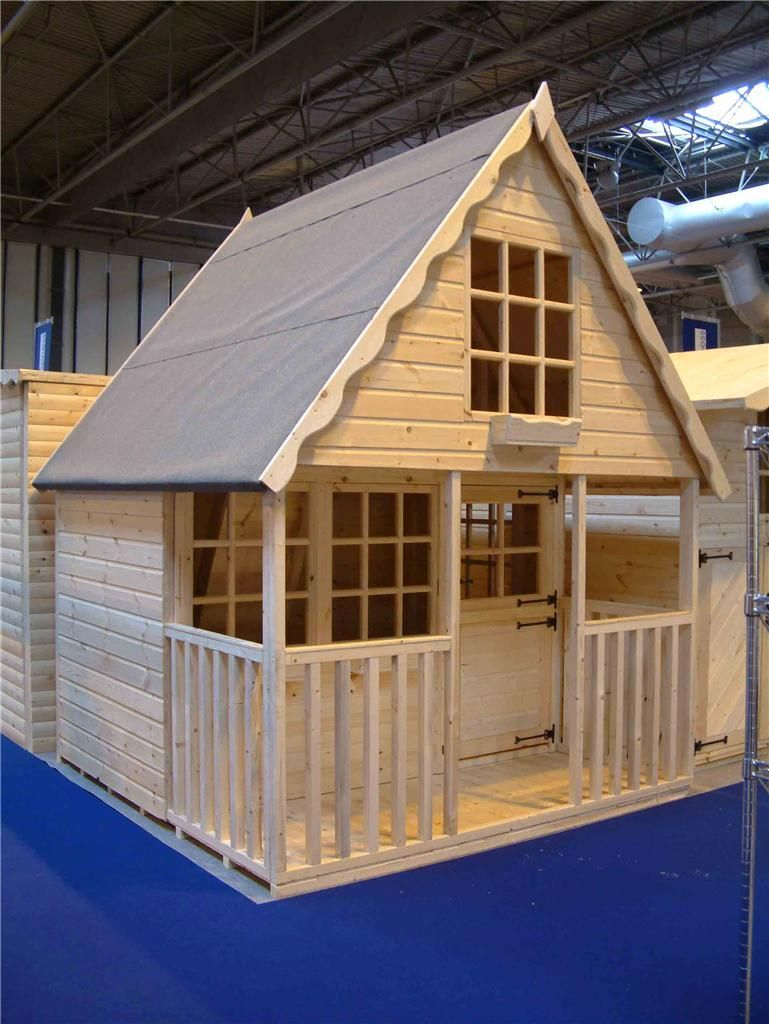 Wooden playhouse play house wendyhouse wendy house 8x8 2 for Wooden wendy house ideas