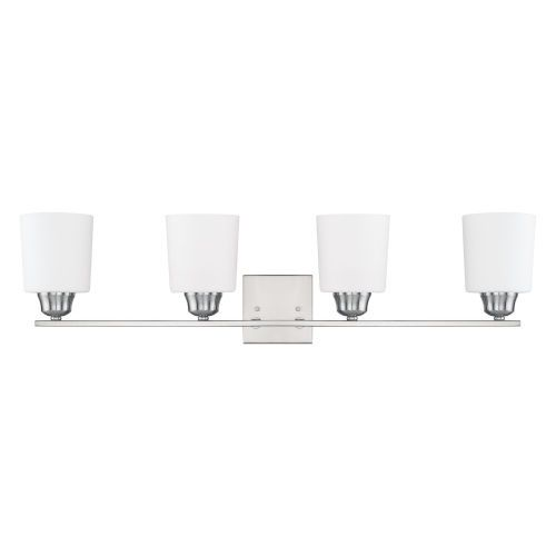 Photo of Capital Lighting Fixture Company 115341BN-339 HomePlace Hayden 33 in. Four-Light Bath Vanity in Brushed Nickel – Brushed, Traditional