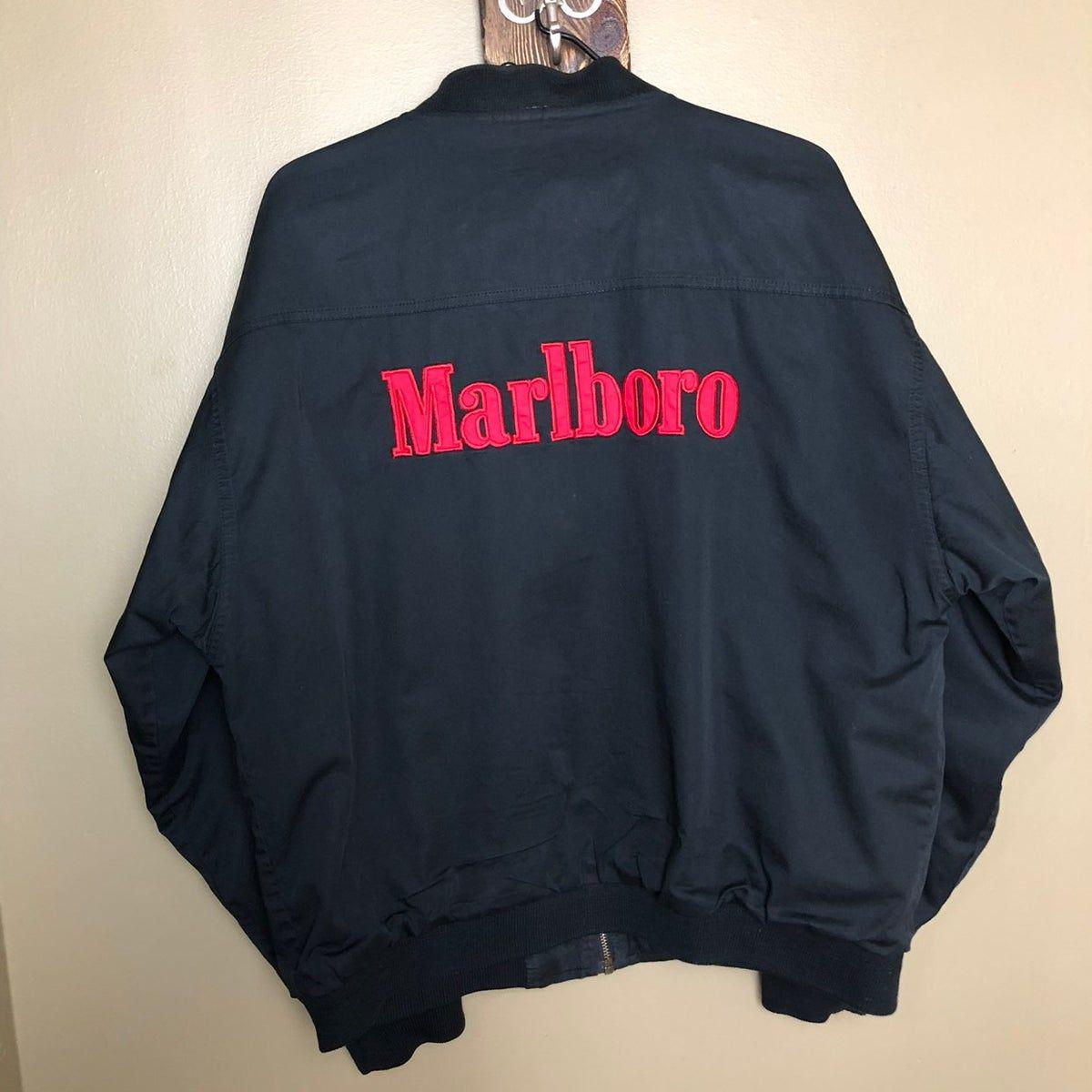 Unisex Vintage Marlboro Bomber Jacket 2x In 2020 Jackets Marlboro Jacket Reversible Jackets