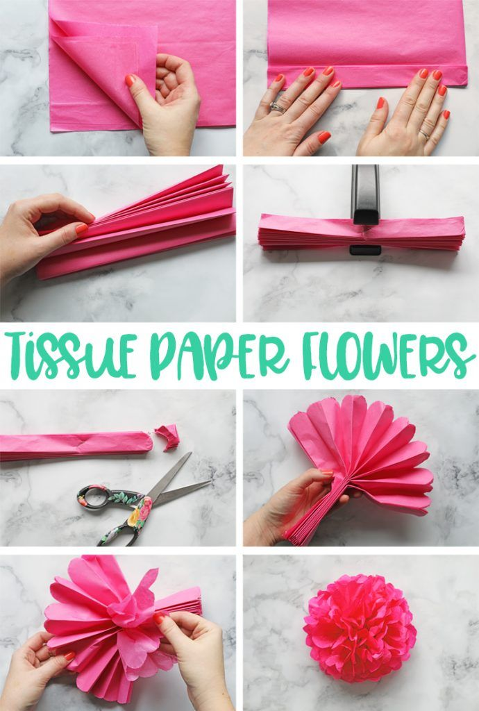 How to make a tissue paper flower folded flowers pinterest how to make a tissue paper flower mightylinksfo