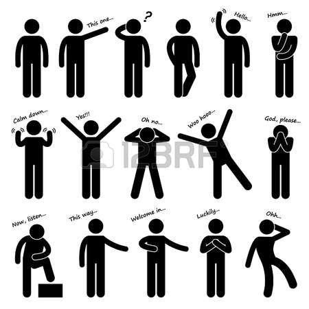 Pictogram Man Man People Person Basic Body Language Posture Stick Figure Pictogram Icon Inai