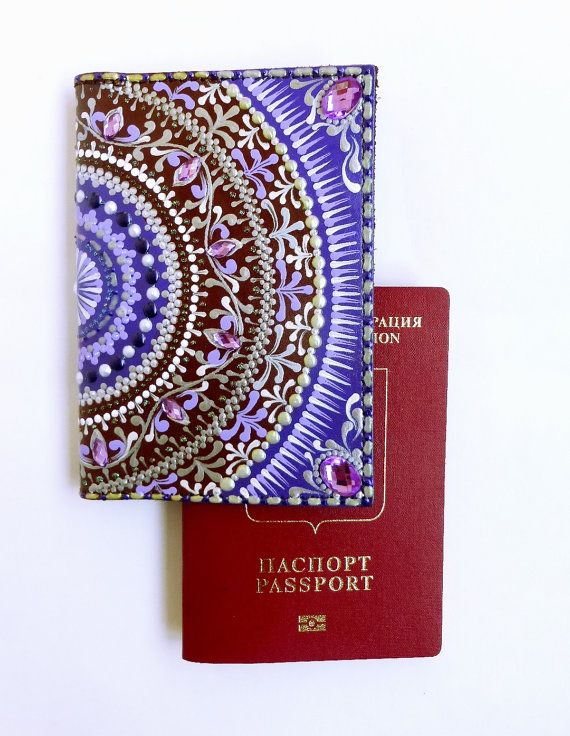 Leather Passport Case - blossom v by VIDA VIDA