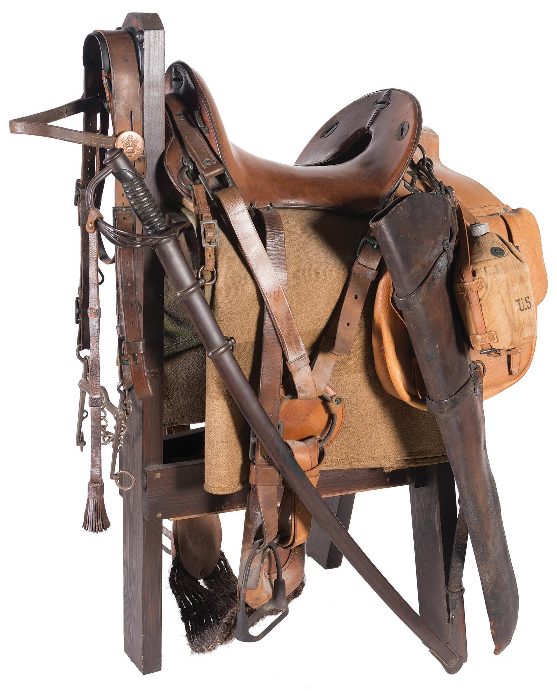 WWI Era Model 1904 McClellan Saddle with Accessories   Guns