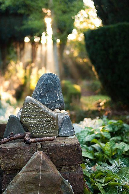 October light - triangular stones by Jos van Wunnik, via Flickr