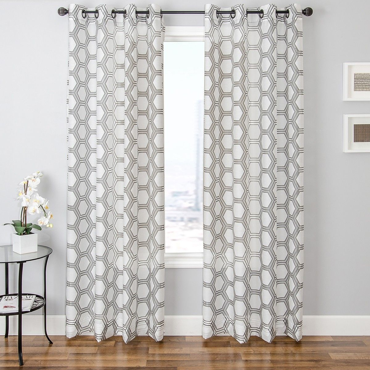 Bust Of Adorn Your Interior With White Patterned Curtains