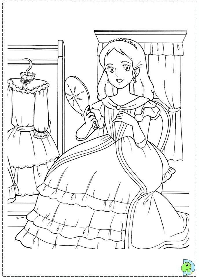 Epingle Par Marjolaine Grange Sur Coloriage Princesse Sarah
