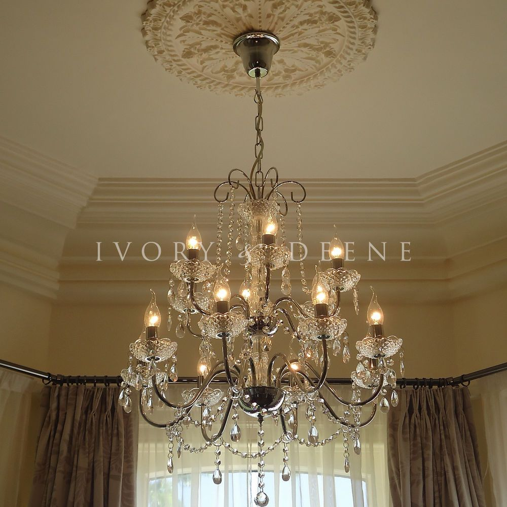 I want big chandeliers in my home i mean 2 feet wide will look i want big chandeliers in my home i mean 2 feet wide will look huge in my humble abode new 2 tier 14 arm chrome glass crystal chandelier lamp xl large mozeypictures Choice Image