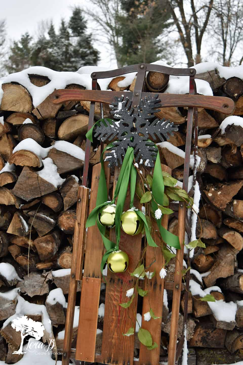 Get 10 ideas for decorating a vintage or antique sled for wintertime home decor.