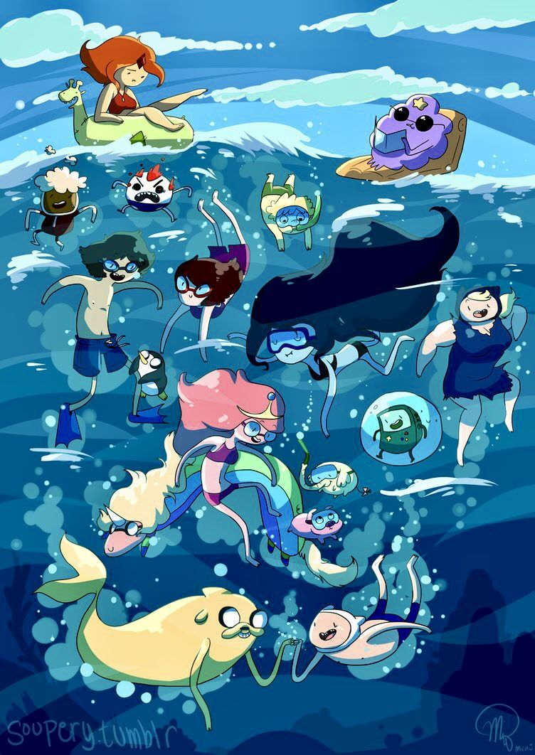 Swimming All Together | Adventure time anime, Adventure ...