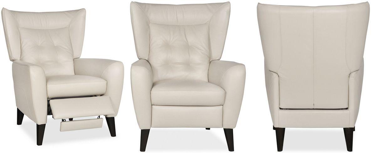 Tremendous Giulia Leather Tufted Pushback Recliner Furniture Macys Beatyapartments Chair Design Images Beatyapartmentscom
