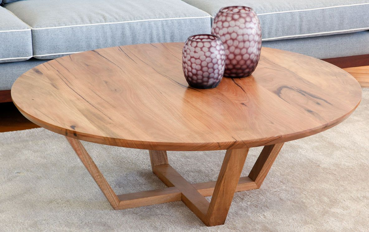Yallingup Marri Or Jarrah Round Contemporary Coffee Table Built
