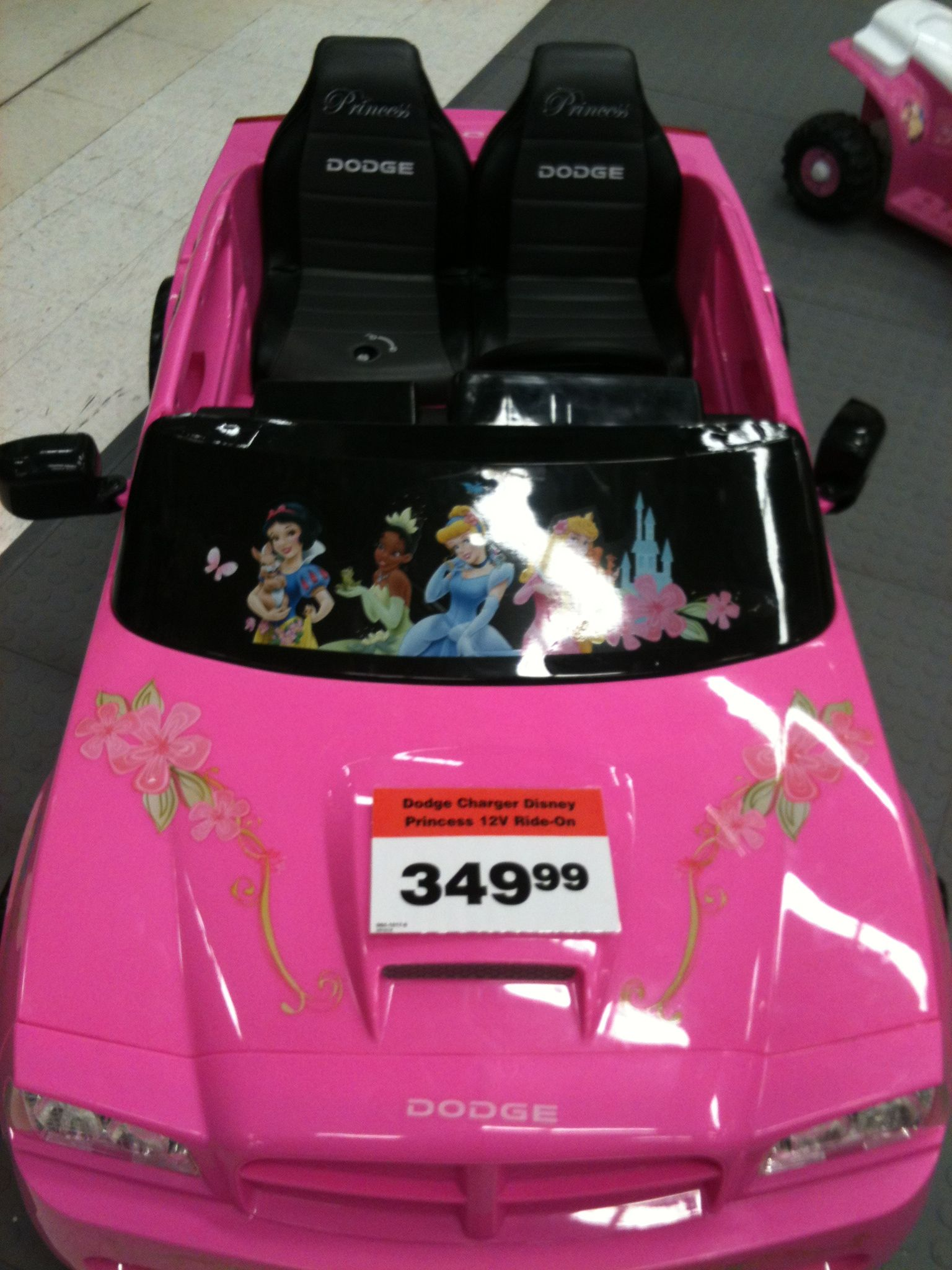 Pink Dodge Charger : dodge, charger, Layla's, Dream, Disney, Princess, Dodge, Charger, Seats,