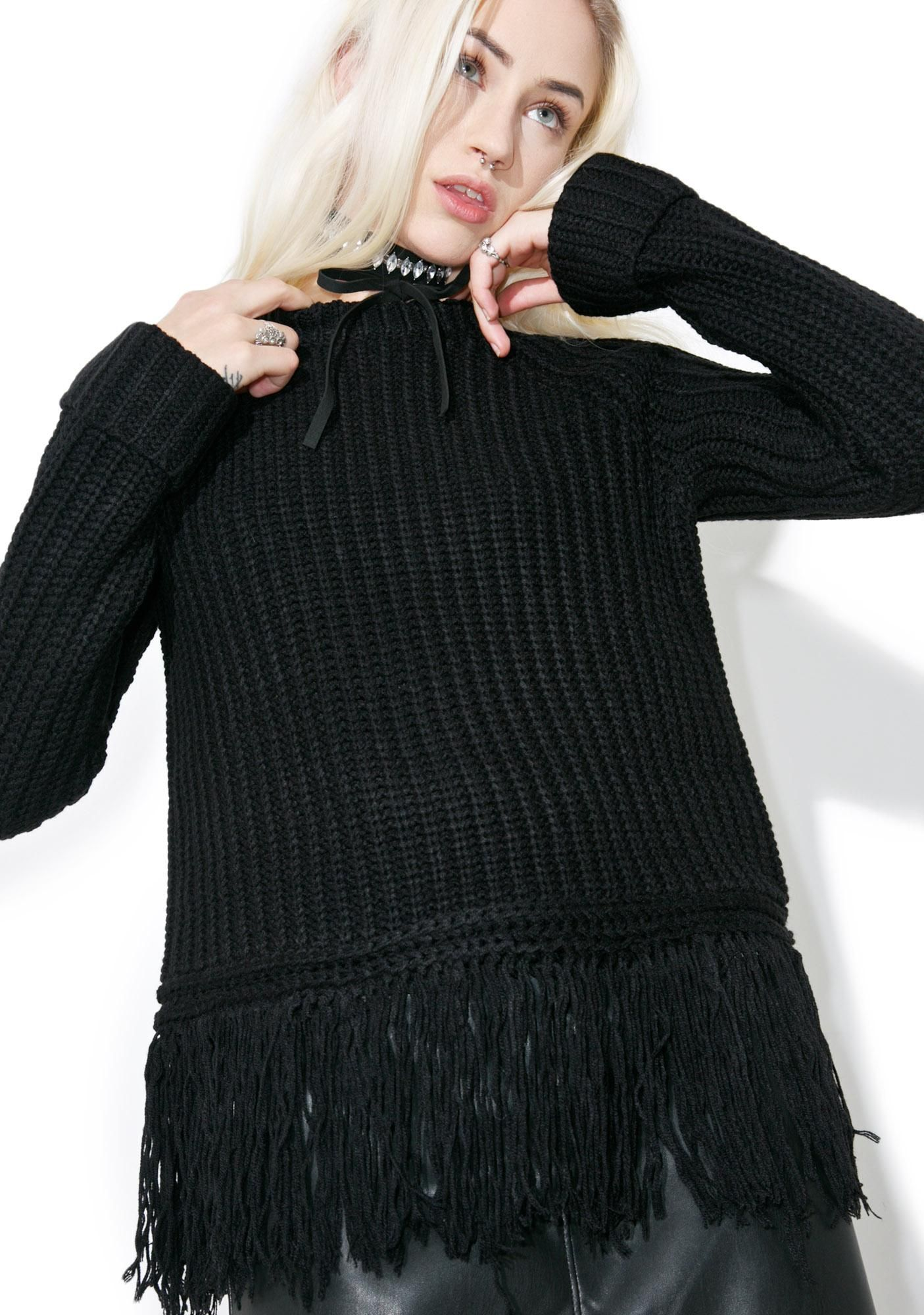 4488071cbc8f Telepathy Fringe Sweater we feel a real connection to ya