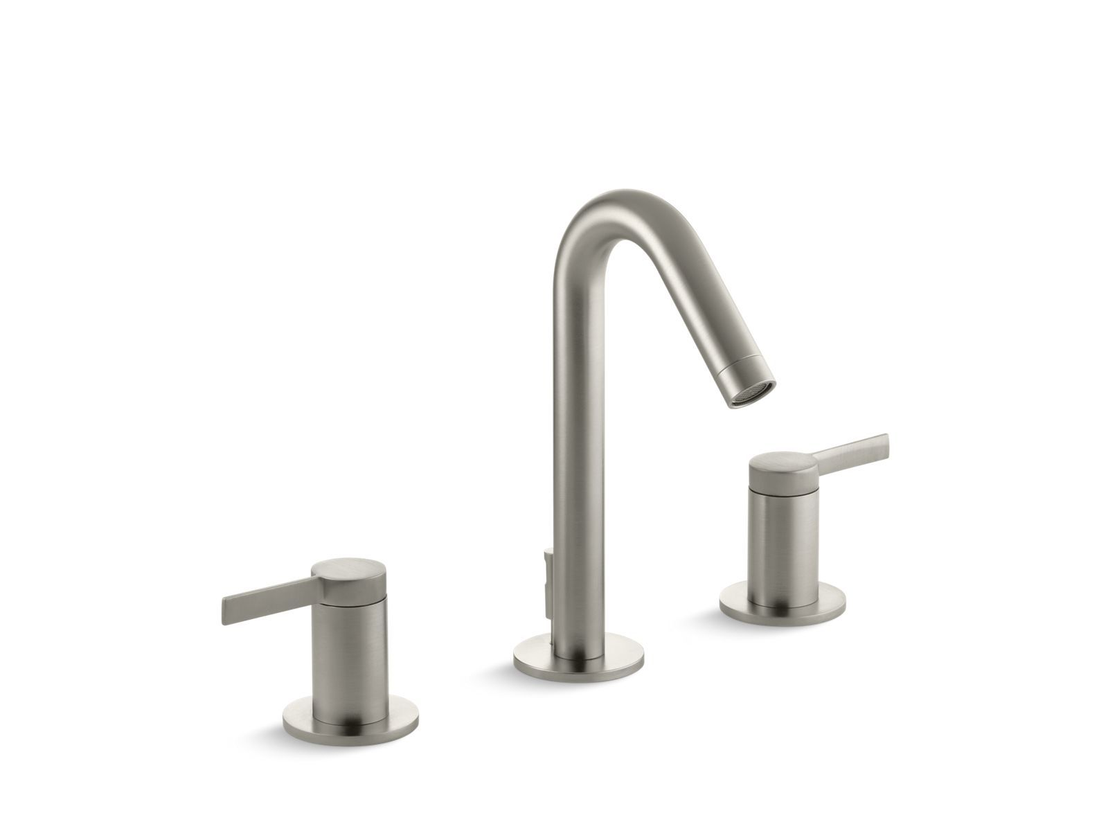 chrome hole sink single bathroom front faucet sinistra