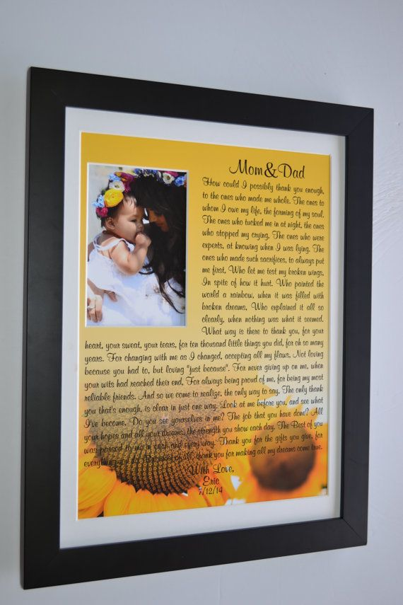 Unique Parent Wedding Gift Idea Personalized Wall Art By Picmats