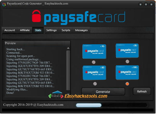 Paysafecard Code Generator 2016 No Survey Free Download