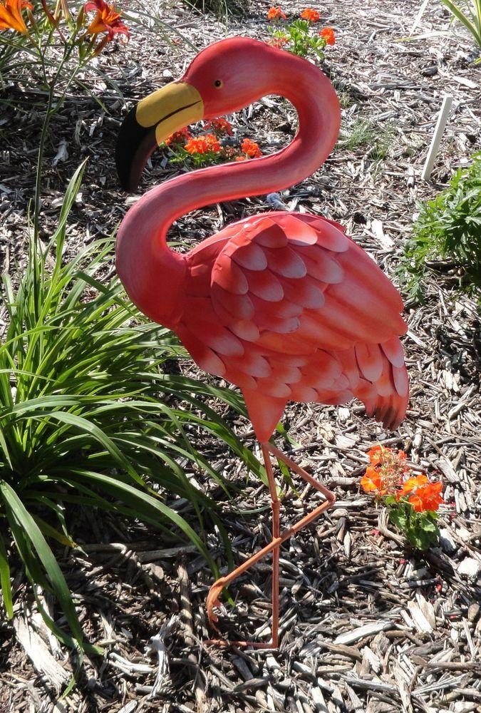 Stylish Metal Flamingo Garden Decor S L1000 Flamingo Garden 400 x 300