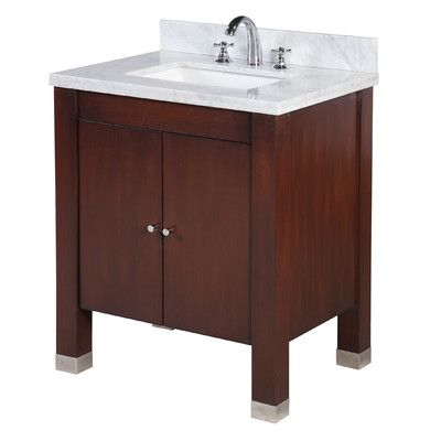"KBC Riley 30"" Single Bathroom Vanity Set Base Finish: Chocolate"