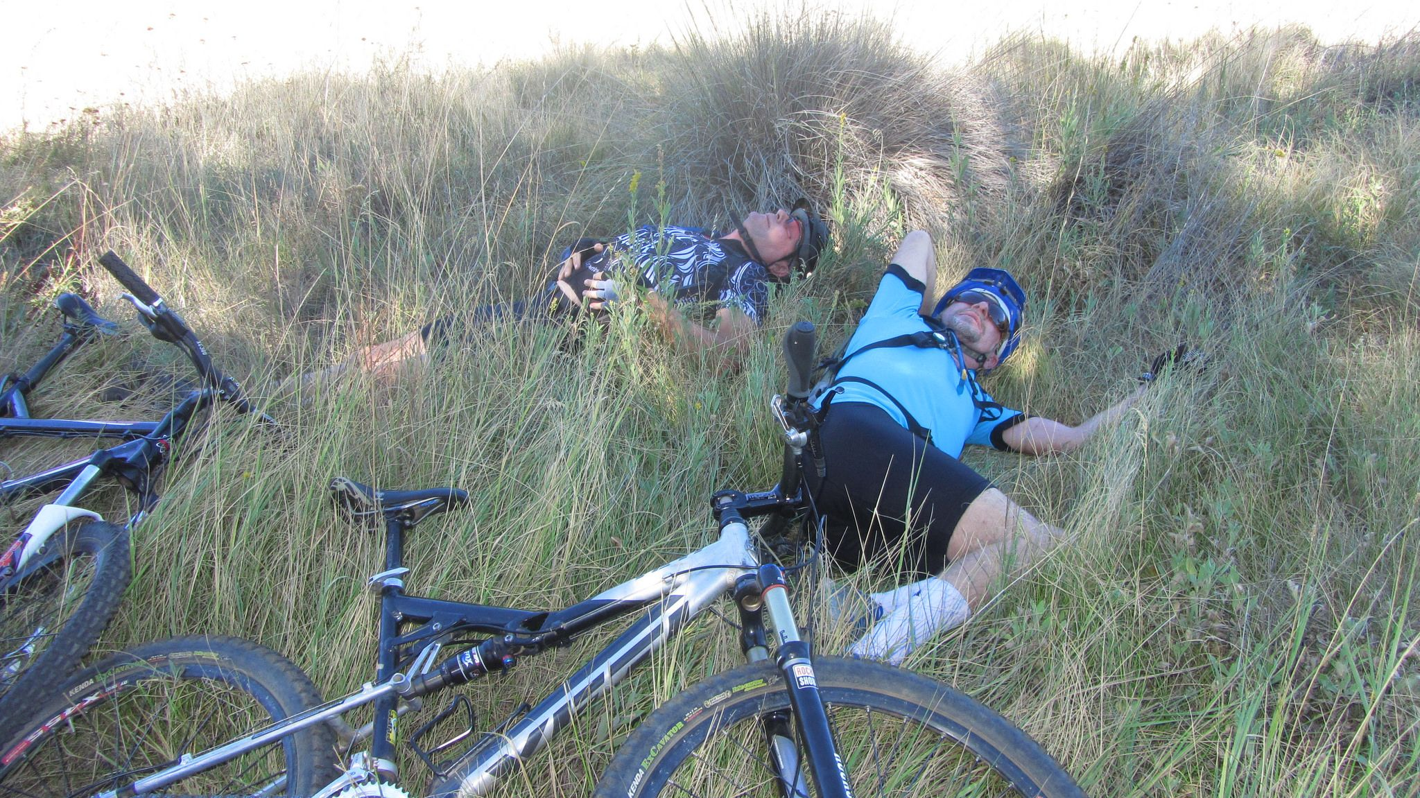 Taking a rest from the mountain bike ride, Cuyamaca Rancho - Photo by Patty Mooney of Crystal Pyramid Productions - http://sandiegovideoproduction.com/video-producers/patty-mooney/