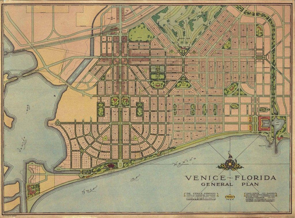 Venice, Florida plan by John Nolen