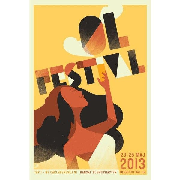 Mads Berg \'Festival\' Art Deco Danish Poster ($100) ❤ liked on ...