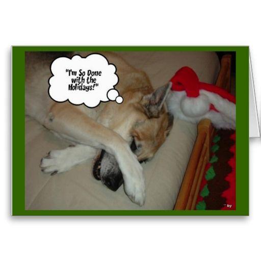 German Shepherd Christmas Holiday Card