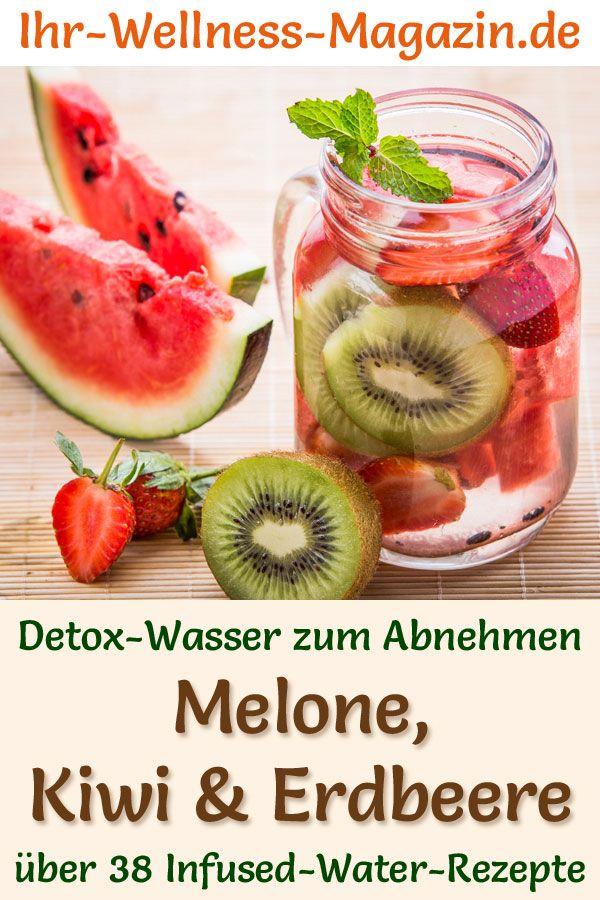 Melonen-Kiwi-Erdbeer-Wasser - Rezept für Infused Water - Detox-Wasser