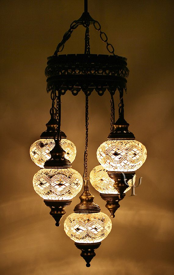 Mosaic Turkish Chandelier For Over Kitchen Table And Matching