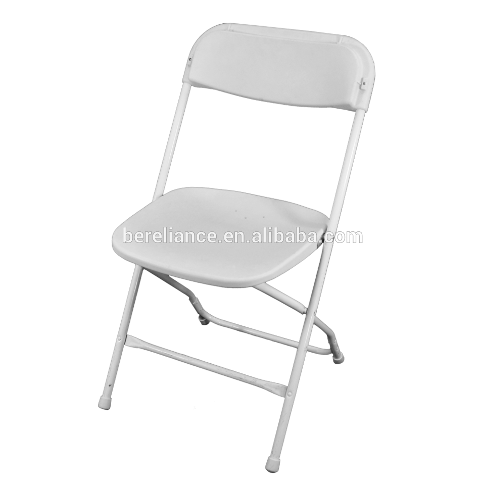 White Folding Chair With PP Cover For Wedding Camping