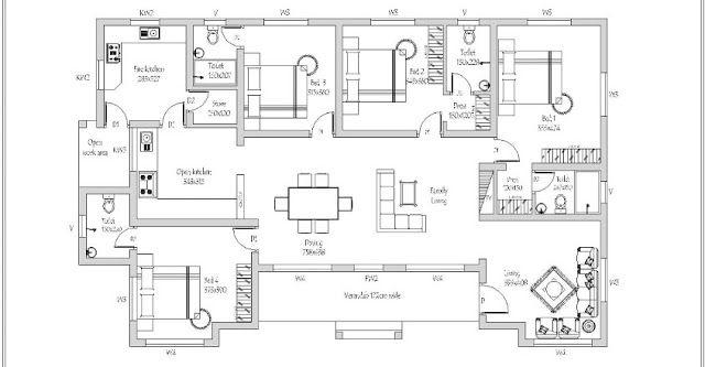 4 Bedroom American Model Villa in 1998 Sqft Design With ...
