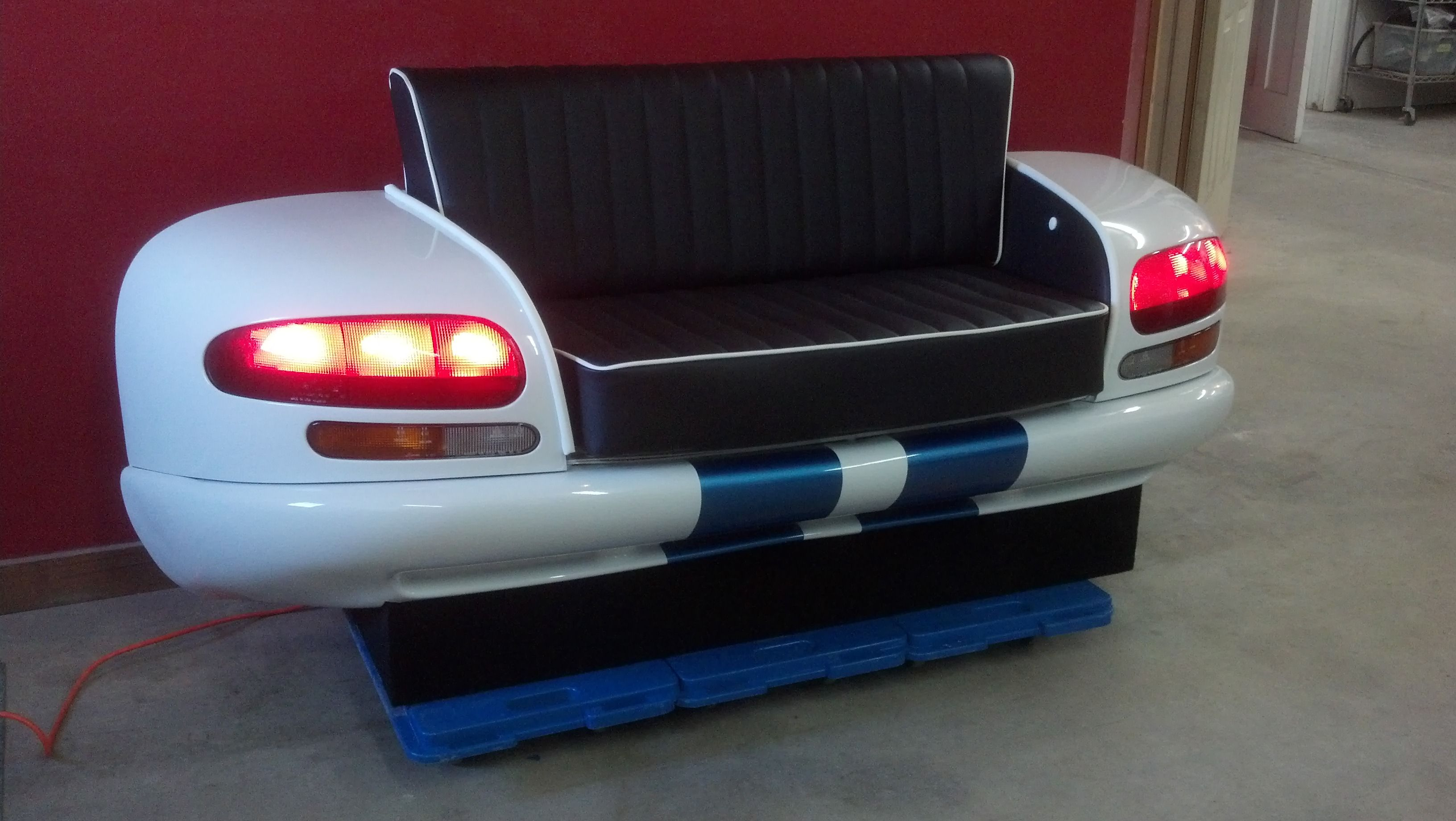dodge viper office chair. \u002796 Dodge Viper Couch! Made From A Real Car With Working Tail Lights! Office Chair