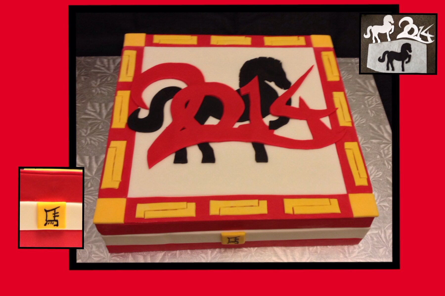 Chinese New Year - 2014 Year of the Horse - Cake Central Inspiration Challenge Entry by Karen Bergeron Baggs