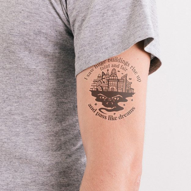 21 literary temporary tattoos every book lover needs