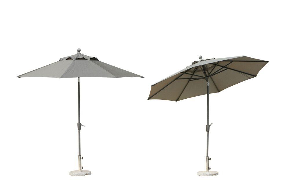 The Ratana Patio Umbrella With A Base Is Nine Feet Wide