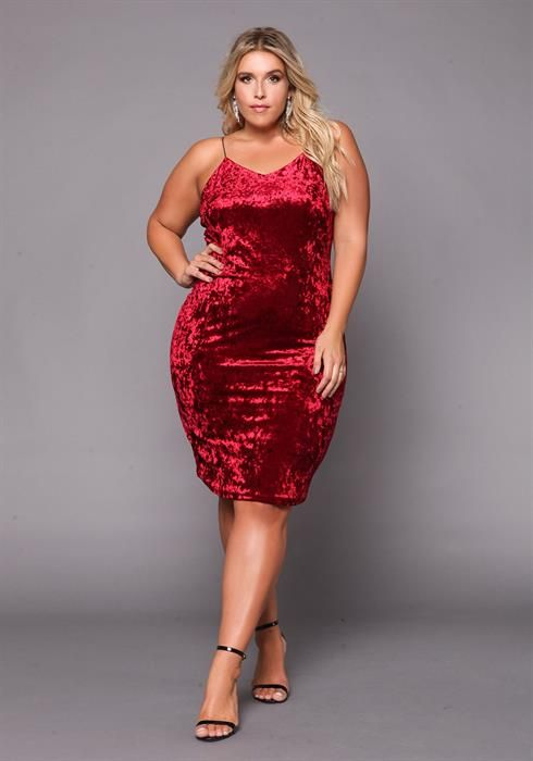 19.00---Plus Size Crushed Velvet Bodycon Dress | Plus size ...