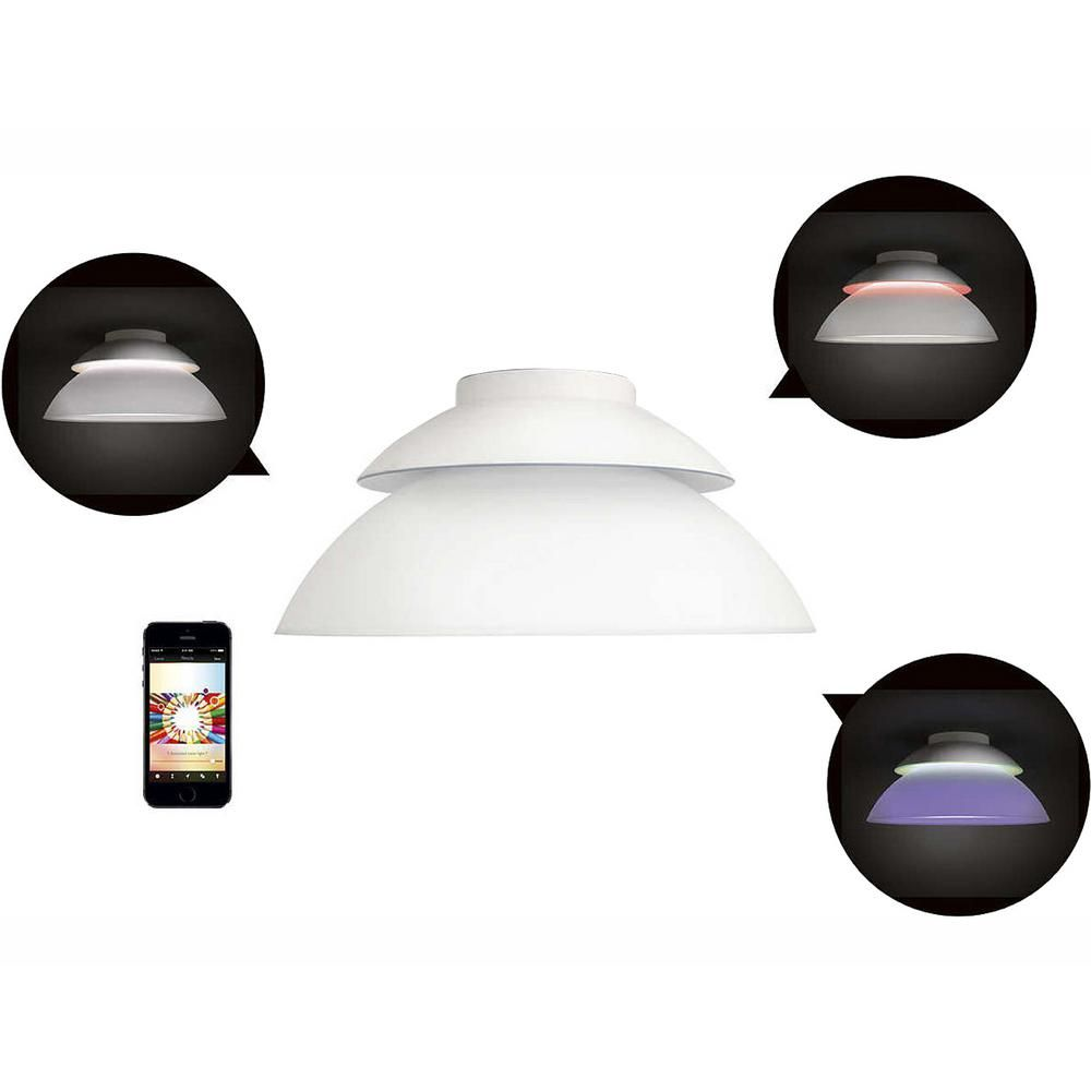 Philips Hue White And Color Ambiance Beyond Led Dimmable Smart Ceiling Light 798108 Ceiling