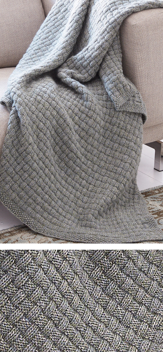 Free Knitting Pattern for Easy Tweed Blanket - Easy afghan texture ...