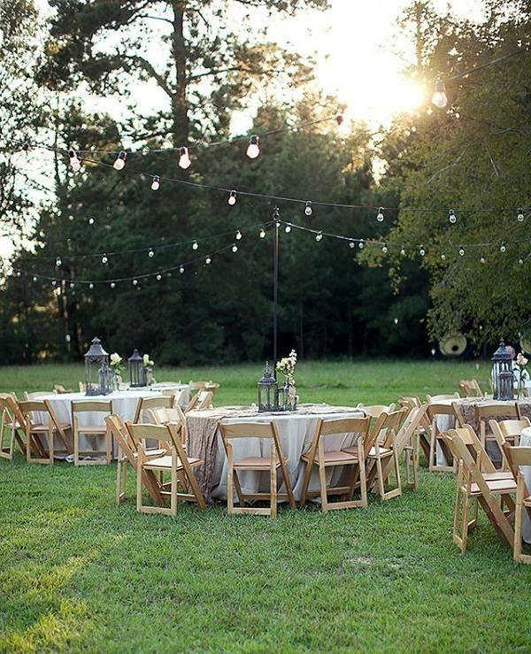 Backyard Country Wedding Ideas: 35 Rustic Backyard Wedding Decoration Ideas