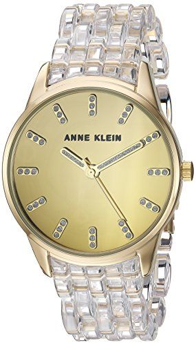 Anne Klein Womens Quartz Metal and Resin Dress Watch ColorClear Model AK2616CLGB >>> You can find out more details at the link of the image.Note:It is affiliate link to Amazon.
