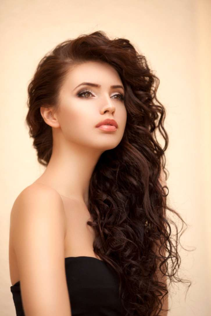 curly layered haircuts round face soft - Google Search