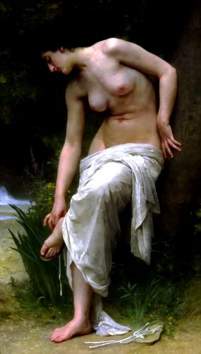 After the Bath, William Adolphe Bouguereau | maybe this in the bathroom