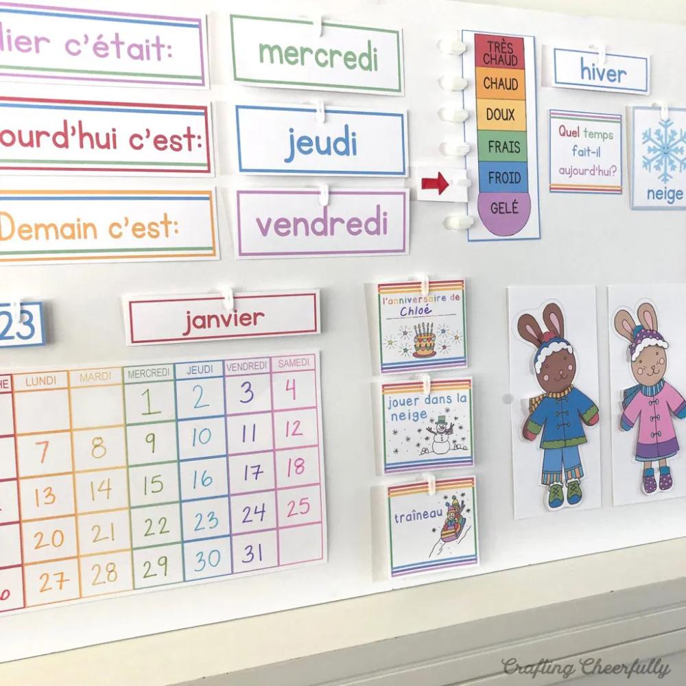 DIY Children's Calendar by Crafting Cheerfully in 2020