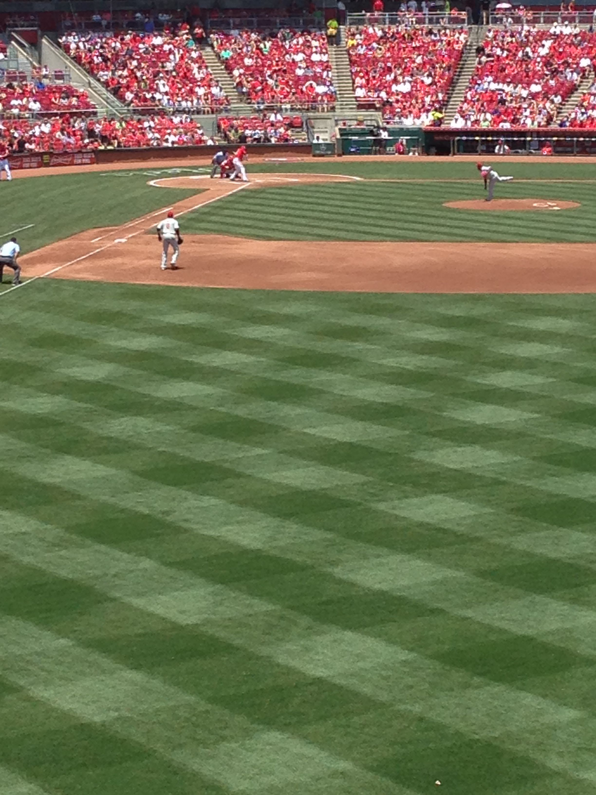 My favorite place and favorite team! Great American ball park! Go Cincy Reds! ❤️⚾️