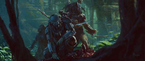 Predators Tracing  - fan art by  Bayard Wu #LoveArt - http://wp.me/p6qjkV-ego  #Art