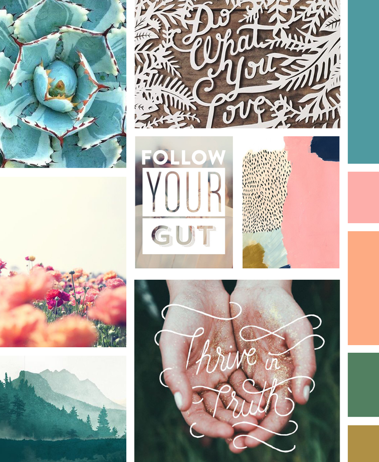 Visual Vocab 01: Fresh, Feminine + Adventurous Mood Board – Wandering Aimfully