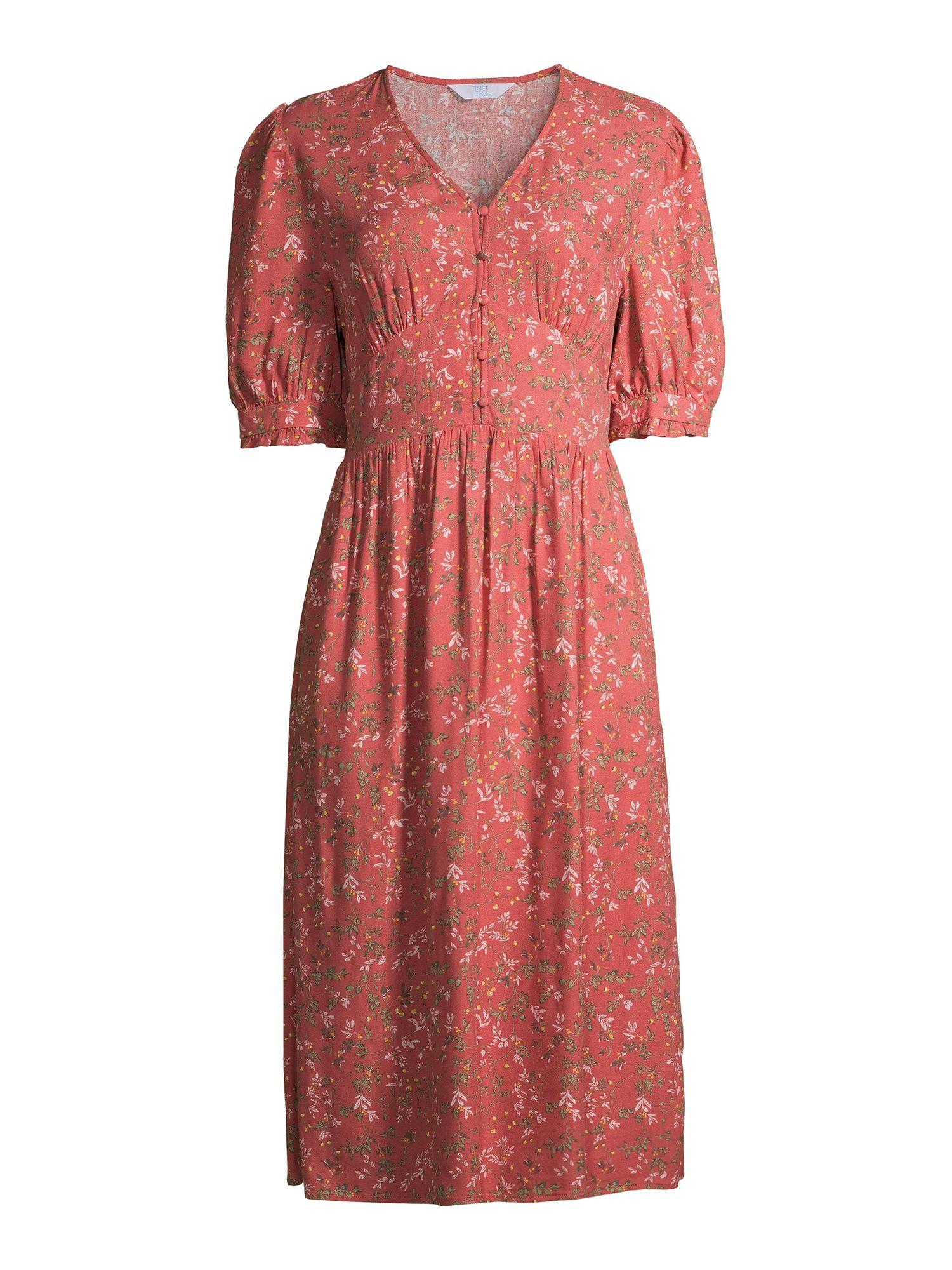 Time And Tru Time And Tru Women S Midi Dress Walmart Com Womens Midi Dresses Dresses Midi Dress [ 2000 x 1500 Pixel ]