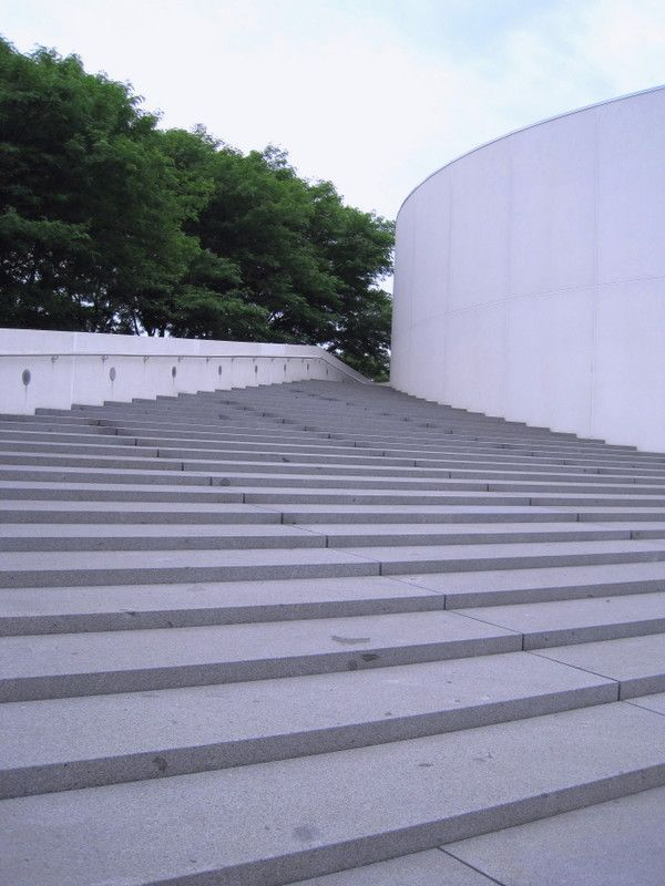 A study in perspective: The stairs at the JFK Library.