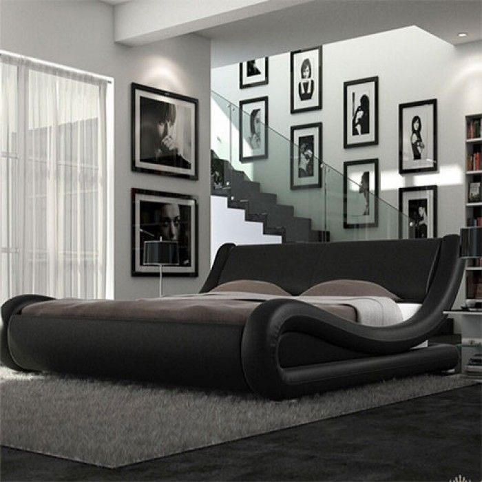 Roma Italian Modern Designer Leather Bed - Luxury Leather Beds