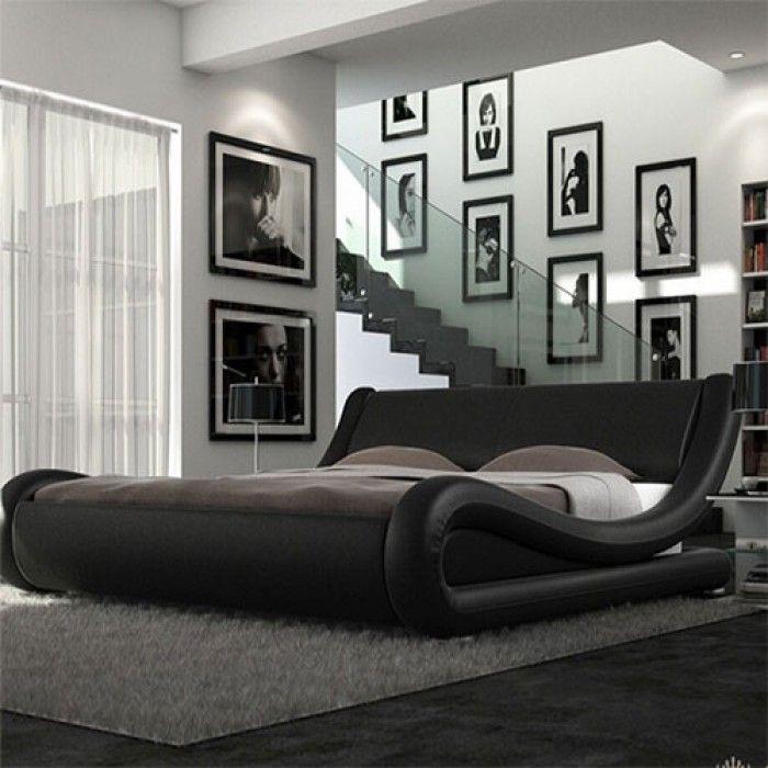 Best Roma Italian Modern Designer Leather Bed Luxury Leather 400 x 300