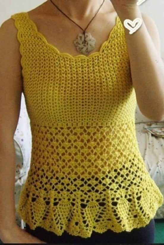 5f08ecf2c2 Luty Artes Crochet  Camiseta de crochê com passo a passo